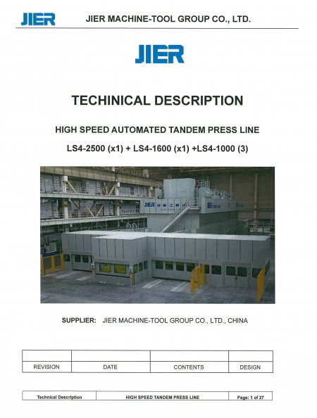 Standard Specification Samples - JIER North America, Inc - 5_press_tandem_line