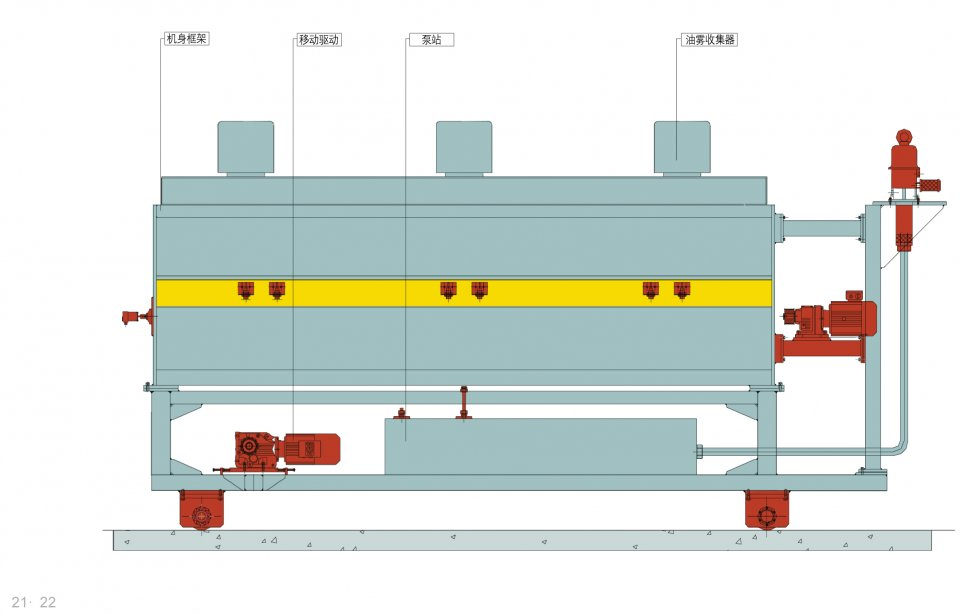 Blank Oiling Unit - Sheet Metal Processing Equipment - Forming, Cutting - JIER North America - Blank_Oiler_Unit_Diagram